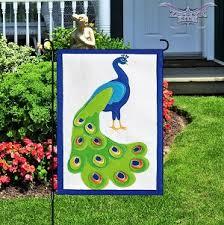 Felt Peacock Garden Flag