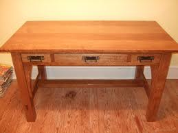 mission style desk wood