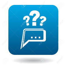 Technical Support Questions Questions To Technical Support Icon In Flat Style In Blue Square