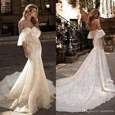 berta 2017 mermaid wedding dresses off shoulder lace applique sexy