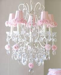 pink chandelier lighting. 5 Light Chandelier With Pink Rose Shades Popular Pin Lighting L