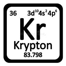 Periodic Table Element Krypton Icon. Stock Illustration - Image ...