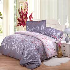 100 cotton comforter sets queen gray and pale pink romantic forest tree branch print full queen