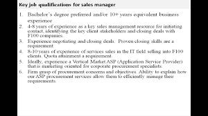 Retail Sales Associate Job Description For Resume Sales manager job description YouTube 67