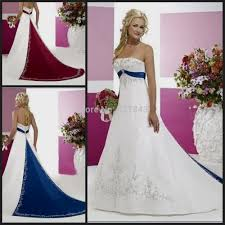 Red White And Blue Wedding Dress