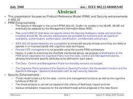 Security And The Protocol Reference Model Enhancements In Ieee Ppt