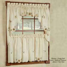 Kitchen Window Covering Kitchen Curtains Tiers And Valance Window Treatments Touch Of Class
