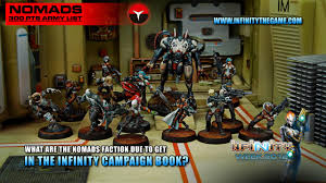 infinity list. what are the nomads faction due to get in infinity campaign book? list m