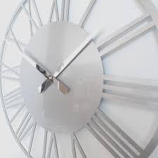 rocoverre acrylic gloss skeleton roman clock small