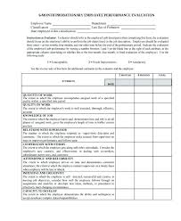 6 Month Performance Review Template Sample Employee