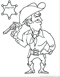 Cowboy Coloring Page Cowboy Coloring Pages Cowboys Coloring Page