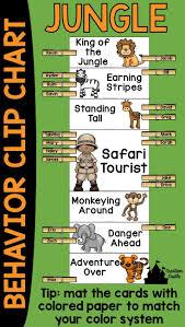 Chart Jungle Jungle Behavior Clip Chart Jungle Theme Classroom