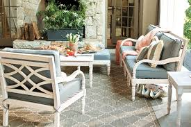 porch furniture ottoman in outdoor space for extra seating and lounging