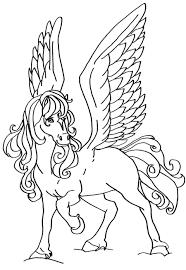 Coloriage Cheval Volant Imprimer 1001 Animaux Avec Coloriage