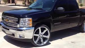 2012 Silverado on 26 Iroc wheels - YouTube