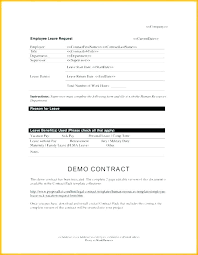 Leave Of Absence Form Template Employee Sick Leave Form Template Leave Of Absence Template