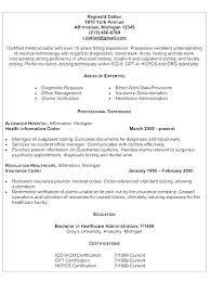 Medical Billing Resumes Medical Billing Sample Resume Medical