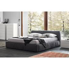 rossetto twist king platform bed in dark gray fabric for  in