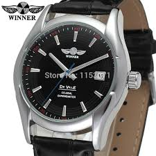 online buy whole watch company men from watch company wrg8050m3s4 winner new automatic men black color dress watch factory company black leather strap shipping