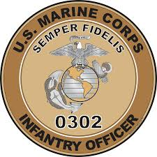 Usmc Mos Chart 2017 U S M C Mos 0302 Infantry Officer Decal