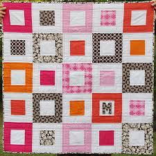 476 best Quilting images on Pinterest | Patchwork quilting, Mini ... & An easy log cabin baby quilt by Kirsty at Bonjour Quilts Adamdwight.com