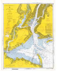 Chart Of New York Harbor Nautical Chart New York Harbor Map Cartography Antique Maps