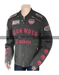 cherry darling planet terror men women leather jacket