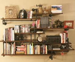 iron pipe furniture. Industrial Pipe Shelving Built-In Iron Furniture
