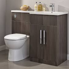 Bathroom Cabinets B Q Fresh On Pertaining To Cooke Lewis Ardesio Bodega  Grey RH Vanity Toilet Pack 11