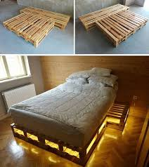 Easy conversion of wooden pallet bed into storage units