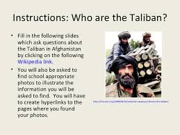 who are the taliban 2 instructions who are the taliban
