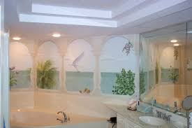 3D Dophins Playing Coral Entire Living Room Bathroom Wallpaper Bathroom Wallpaper Murals