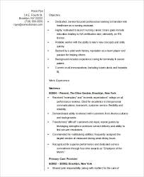 Resume Template Nursing Best 28 Nurse Resume Templates PDF DOC Free Premium Templates