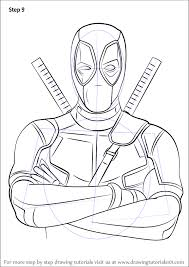 598x844 learn how to draw deadpool deadpool step by step drawing tutorials