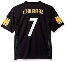 Outerstuff Steelers Ben Pittsburgh Roethlisberger Youth Black Jersey