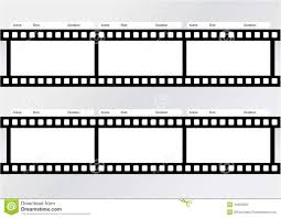 Film Picture Template Professional Of Storyboard Film Template Stock Illustration