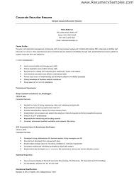 Recruiter Resume Examples Examples Of Resumes
