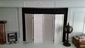 shutter DIY fireplace screen