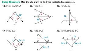 Constructions for Perpendicular Lines Students are asked to together with Angle Bisectors Worksheet   Mister G's Web in addition  besides Math Plane   Triangle Parts  Median  Altitude  Bisectors moreover Angle Bisector Theorem also  likewise Perpendicular Bisector Worksheet Free Worksheets Library together with Points of Concurrency Objectives  To identify properties of also  likewise Geometry Worksheets   Constructions Worksheets likewise Medians  Altitudes and Perpendicular Bisectors. on perpendicular and angle bisectors worksheet