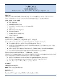 Lead Graphic Designer Resume Example Digital Media Video