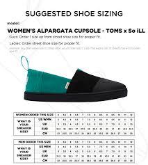 Toms Size Chart Toms Dynasty Green Alpargata