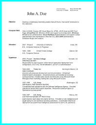 Cv Template Science Resume Format