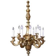 early 20th c italian baroque gilt wood chandelier