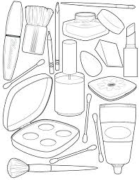 Coloring Pages Makeup At Getdrawingscom Free For Personal Use