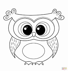 Cute Baby Owl Coloring Pages At Getdrawingscom Free For Personal