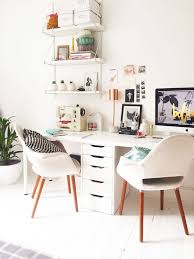 home office white desk. Home Office Inspiration - A Pretty Clean Working Space For Two White Desk B