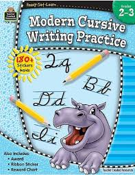 Amazon Com Rsl Modern Cursive Writing Practice Gr 2 3