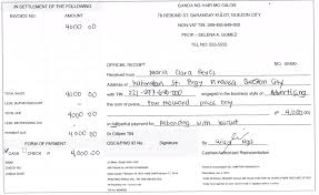 Collection Receipt Template How To Write A NonVAT Official Receipt 11