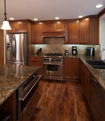 Cherry Cabinet Kitchens Kitchens With Cherry Cabinets And Wood Floors Cliff Kitchen