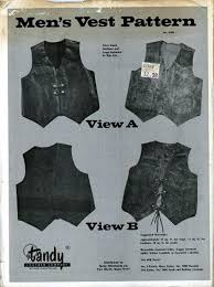 vintage pattern warehouse vintage sewing patterns vintage fashion crafts fashion vintage men s leather vest pattern no 2666 tandy leather co